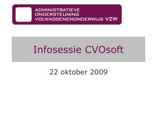 Infosessie  CVOsoft