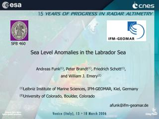 Sea Level Anomalies in the Labrador Sea