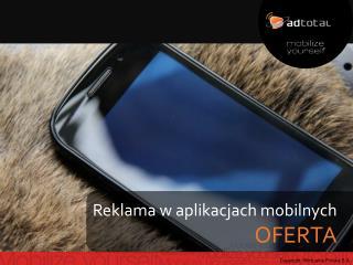 Reklama w aplikacjach mobilnych OFERTA
