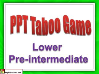 PPT Taboo Game