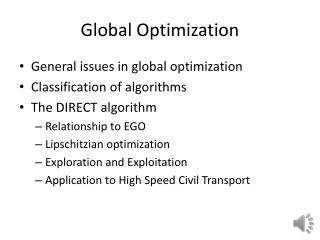 Global Optimization