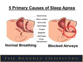 5 Primary Causes of Sleep Apnea