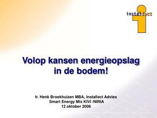 Volop kansen energieopslag in de bodem!