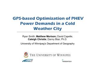 GPS-based Optimization of PHEV Power Demands in a Cold Weather City