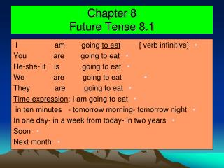 Chapter 8 Future Tense 8.1