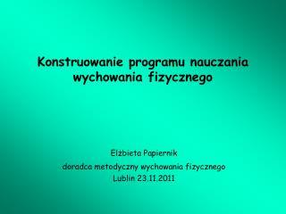 Konstruowanie programu nauczania wychowania fizycznego