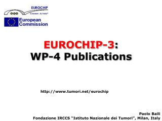EUROCHIP-3 :  WP-4 Publications