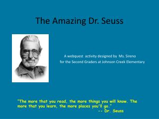 The Amazing Dr. Seuss