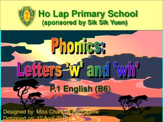 Phonics: Letters 'w' and 'wh'