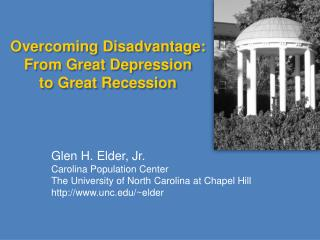 Overcoming Disadvantage: From Great Depression to Great Recession