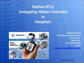 Ekahau RTLS Untapping Hidden Potential In  Hospitals