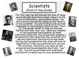Scientists Point of View Guide