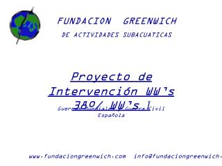 FUNDACION  GREENWICH DE ACTIVIDADES SUBACUATICAS