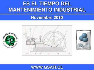 ES EL TIEMPO DEL  MANTENIMIENTO INDUSTRIAL Noviembre 2010