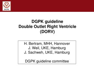 DGPK guideline Double Outlet Right Ventricle (DORV)