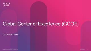 Global Center of  Excellence ( GCOE )