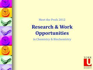 Meet the Profs 2012