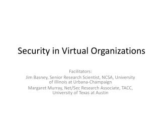Security in Virtual Organizations