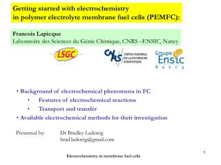 Getting started with electrochemistry  in polymer electrolyte membrane fuel cells (PEMFC):