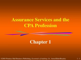 Assurance Services and the CPA Profession