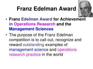 Franz Edelman Award