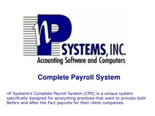 Complete Payroll System