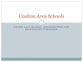 Coalton  Area Schools