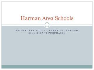 Harman Area Schools