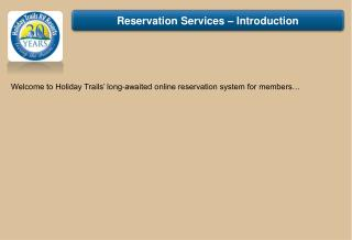 Reservation Services – Introduction