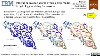 Integrating an open source dynamic river model in hydrology modeling frameworks