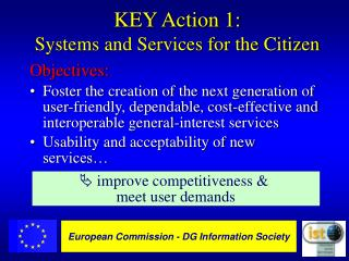 KEY Action 1: Systems and Services for the Citizen