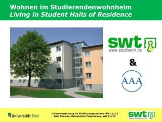 Wohnen im Studierendenwohnheim Living in Student Halls of Residence