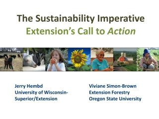 The Sustainability Imperative Extension's Call to  Action