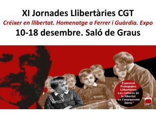 XI Jornades Llibertàries CGT Dijous 10 desembre