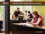Faculty Performance Review Session