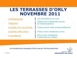 LES TERRASSES D'ORLY  NOVEMBRE 2011