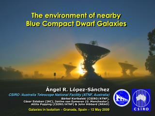 The environment of nearby                        Blue Compact Dwarf Galaxies