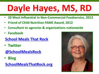 Dayle Hayes, MS, RD