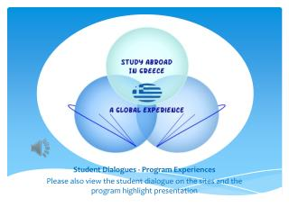 Student Dialogues - Program Experiences