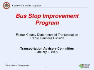 Bus Stop Improvement Program