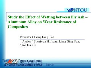 Study the Effect of Wetting between Fly Ash – Aluminum Alloy on Wear Resistance of Composites