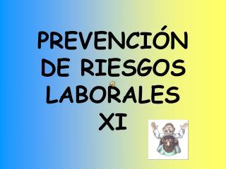 PREVENCIÓN DE RIESGOS LABORALES XI