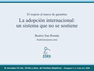 Beatriz San Román beatrizsr@ono