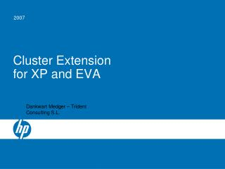 Cluster Extension for XP and EVA