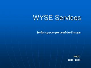 WYSE Services