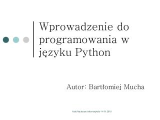 Wprowadzenie do programowania w j?zyku Python