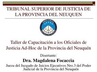 TRIBUNAL SUPERIOR DE JUSTICIA DE LA PROVINCIA DEL NEUQUEN