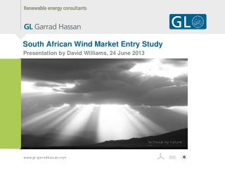 South African Wind Market Entry Study