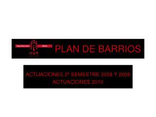 PLAN DE BARRIOS