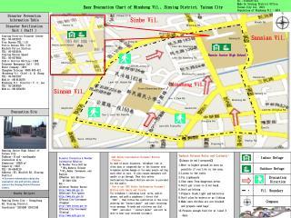 Easy Evacuation Chart of Minsheng Vil., Sinying District, Tainan City